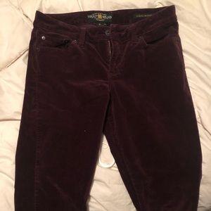 Lucky Brand Corduroy Plum Pants